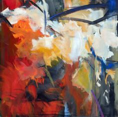 Abstract painting landscape Herbstlichter