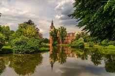 Zamek, Rzeka, Park, Miasto Muskau, Niemcy
