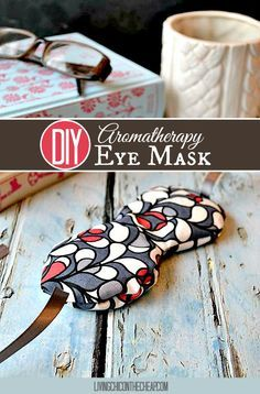 ***Make Your Own Aromatherapy Eye Mask***Here is a simple DIY- Make Your Own Aromatherapy Eye Mask. I love this project because it requires a minimal investment of both cost and time. The eye mask uses very little fabric, so if you have scrap fabric around it would be perfect for this project. You probably have all or most of the items already on hand. This eye mask took me about 30 minutes to complete. #DIY