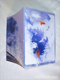 Carte double sur le mythe du Phoenix de Céline Photos Art Nature
