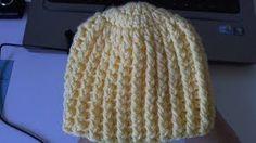 Learn to crochet Easy Ribbed Beanie/Cap Style 1 (Tambien en Español), via YouTube.