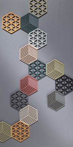 The Zone Denmark Silicone trivets are made from heat-proof silicone and are incredibly tactile. The graphic shapes and beautiful colours make a Diy Home Crafts, Craft Stick Crafts, Popsicle Crafts, Mur Diy, Diy Wall Decor, Home Decor, 3d Prints, Handmade Home, Diy Art