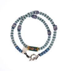 Flat Ended Beads, Venetian Millefiori Necklace #1346 | Necklaces | Jewelry — Deco Art Africa - Decorative African Art - Ethnic Tribal Art - ...
