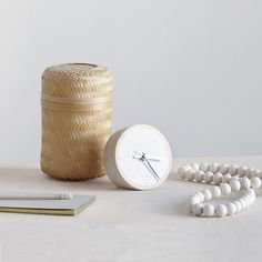 Aarikka represents unique Nordic design since The company makes wood jewellery and home products out of natural materials. Table Watch, Tabletop Clocks, Wooden Clock, Nordic Design, Natural Materials, Interior Inspiration, Home Accessories, Sweet Home, Place Card Holders