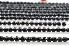 180 pcs of Black Onyx faceted round beads in 2mm(64 faces)