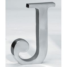 Silver Aluminum Letter J ~ $19.95 at bellacor.com