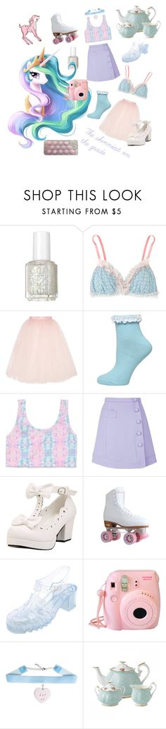 """""""Celestia Nymphet"""" by candycherries ❤ liked on Polyvore featuring Essie, My Little Pony, Ballet Beautiful, Dorothy Perkins, Victoria's Secret PINK, Carven, Charlotte Russe, Fujifilm and Royal Albert"""