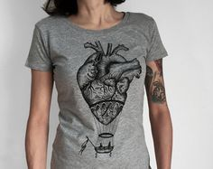 t-shirt for woman with hot air balloon / by hardtimesdesign