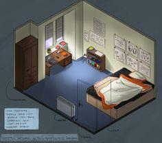 Isometric Room - My messy Room