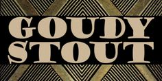 Goudy Stout CT font download