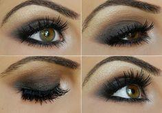 Smokey Taupe Eyeshadow, perfect for hazel eyes!
