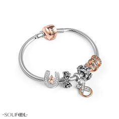 SOUFEEL Lucky Star charms bracelet. Hope this charm bracelet will bring luck to you.