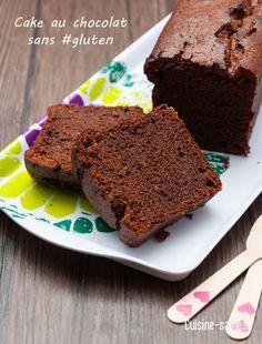 Cake au chocolat sans gluten via Gf Recipes, Sweet Recipes, Different Types Of Bread, Patisserie Sans Gluten, Petit Cake, Chocolate Wine, Cake Chocolat, Sweet Cakes, Cake Cookies