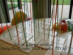 making a balloon gazebo 8 section frame with pvc - Google Search
