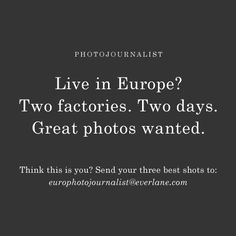 We're taking Everlane Explores to Europe. Join Us.
