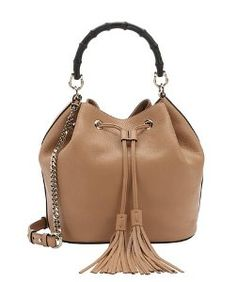 Guccicamelia leather 'Miss Bamboo' bamboo bucket bag