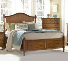 Marvelous Broyhill Hayden Place 4645 Oak Panel Bed With Storage Broyhill Bedroom  Furniture, New Furniture,