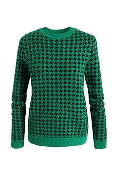 Houndstooth sweater in green (esprit)