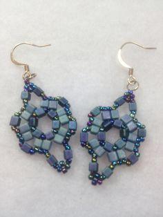 Beadwoven Earrings by BeadingBeeCreations on Etsy, $15.00