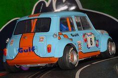 Mini Cooper S, Mini Cooper Classic, Classic Mini, Slot Car Racing, Slot Cars, Classic Sports Cars, Classic Cars, Fiat 500, Retro 1