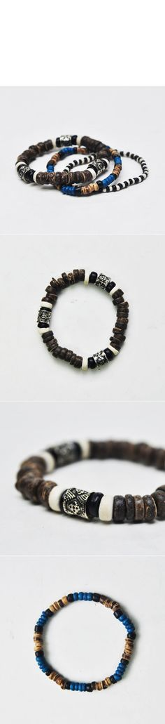 Accessories :: Holiday Lots of 3 Exotic Beads-Bracelet 104 - Mens Fashion Clothing For An Attractive Guy Look