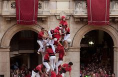 Castell competitions in Catalonia feature human pyramids that build community and celebrate culture as the region prepares to hold a straw vote on independence from Spain.