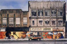 #ArtDeco | 416-18 East 47th Street, Chicago (left), photographed by Camilo José Vergara, 1993. Since demolished.