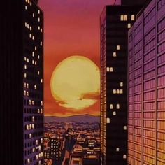 Image uploaded by ♲. Find images and videos about cute, art and anime on We Heart It - the app to get lost in what you love. Orange Aesthetic, City Aesthetic, Retro Aesthetic, Aesthetic Anime, Arte Indie, Anime City, Scenery Wallpaper, Anime Scenery, Wall Collage