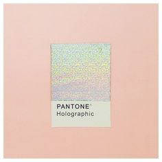 "One of my favorite Pantone of the month, holographic <span class=""EmojiInput mj44"" title=""Sparkles ::sparkles::""></span>#mariaspantone #pantone"