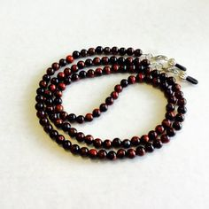 Check out Red Tigereye Stone Eyeglasss Chain, Sunglass chain, eyeglass holder, eyeglass cord, necklace on heavenlychains