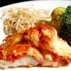 Mozzarella and Parmesan melt over breaded chicken swimming in spaghetti sauce in this timeless Italian classic.