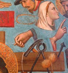 Niccolò di Pietro Gerini - Cristo in pietà tra i simboli della Passione, dettaglio - 1400-1405 - tempera su tavola - Museo Statale d'Arte Medioevale e Moderna, Arezzo