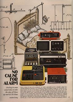 Vintage Modernist Clocks, 1972