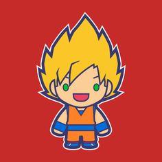 GOKU SS1 Design Nerd Art, All Anime, Princesas Disney, Dbz, Cartoon Characters, Chibi, Spiderman, Street Art, Artwork