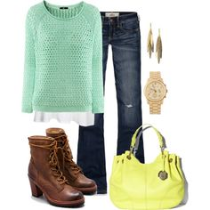 ~Mint Green Sweater~, created by mels777 on Polyvore