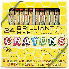Amazon.com: International Arrivals Natural Beeswax Crayons, Set of 24 (133-50): Accessory: Office Products