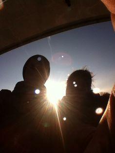 Just We  #sun #darling #fisheye #iphone #love