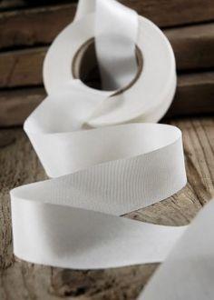 Silk Ribbon White 1in x 38yds