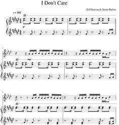 Justin Bieber, Max Martin Piano Sheets
