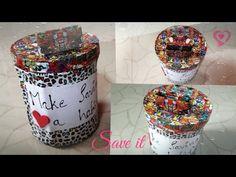 YouTube Piggy bank using plastic jar.... Easy to make diy..