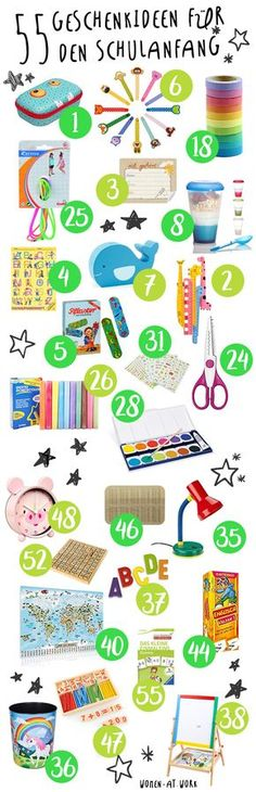 55 gift ideas for the beginning of school and the school bag- 55 Geschenkideen für den Schulanfang und die Schultüte 55 gift ideas for the beginning of school and the school bag - Diy Gifts For Christmas, Diy Gifts For Kids, Diy For Kids, School Pack, I School, First Day Of School, School Ideas, Starting School, Beginning Of School