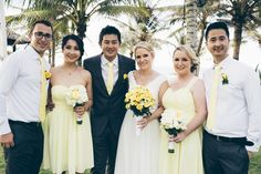 Full bridal party get up designed and made in Hoi An. A great mix of colour and style. Hoi An, We Can Do It, Bridesmaid Dresses, Wedding Dresses, Get Up, Big Day, Color Mixing, Bridal Gowns, Our Wedding