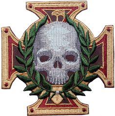 Inquisition Warhammer 40k Sigmar Cross Skull Patch