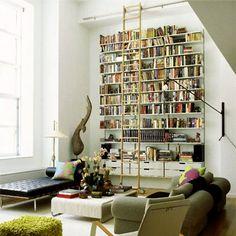 Vitsoe shelving; library ladder