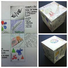 Elements of Art Cube #6thgrade