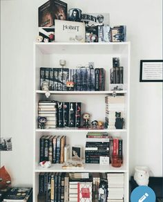 """rudyslibrary: """" A little morning to start the day. ✨ At the rate of my book buying habit, I'm probably going to need to get another shelf. 🙌🏻 I have enough room to stick one right next to this one. Most likely getting that around November or."""
