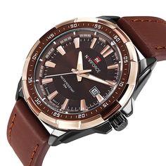 NAVIFORCE-9056-B homme mode analogique le sport imperméable montre à quartz 297cad6d131