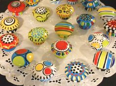 Painted Knobs set of 8 CUSTOM Match by impressionsbysusan on Etsy, $48.98