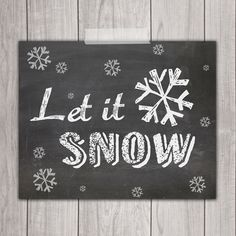 Let it Snow - 8x10
