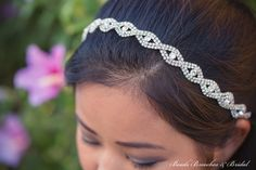 Rhinestone Headband Wedding Headband by BeadsBroochesBridal